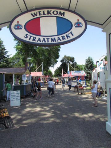 Straatmarkt in Orange City, IA