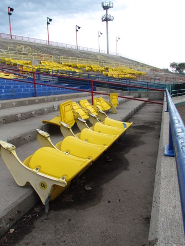 yellow seats at Rosenblatt