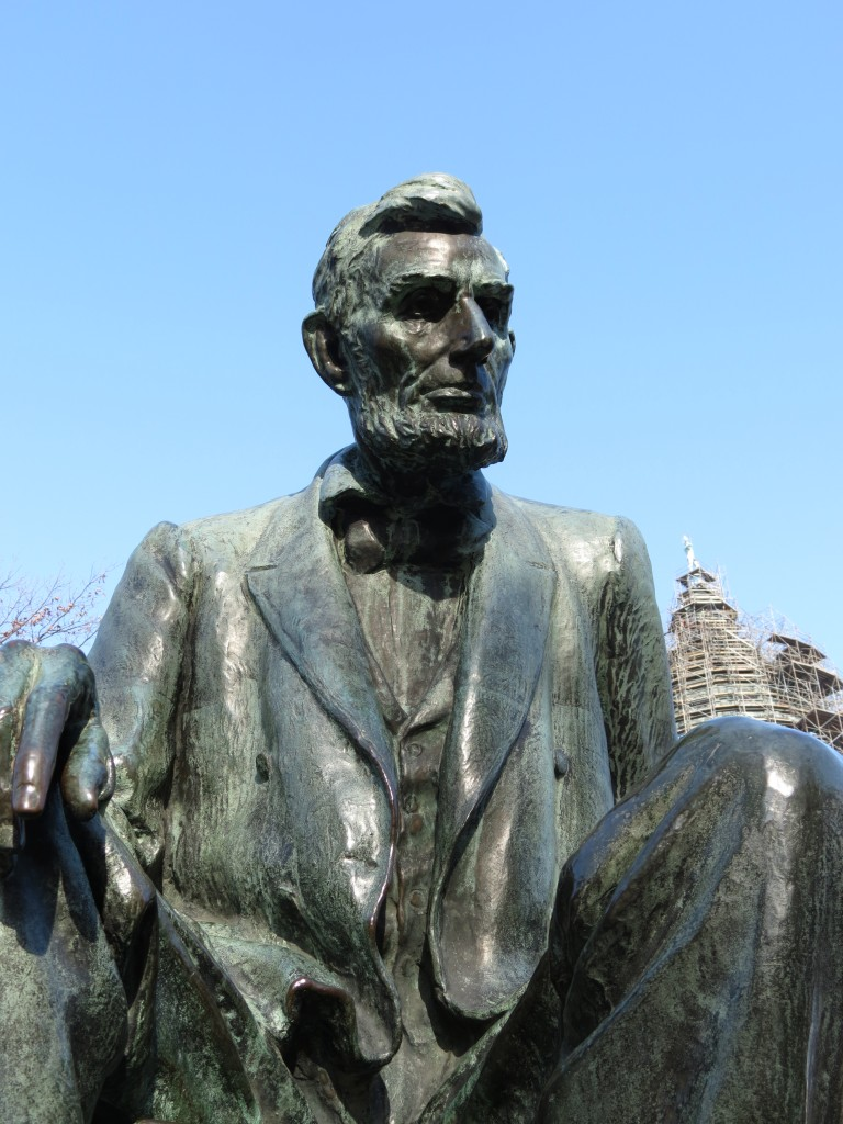 Lincoln statue on the capital grounds