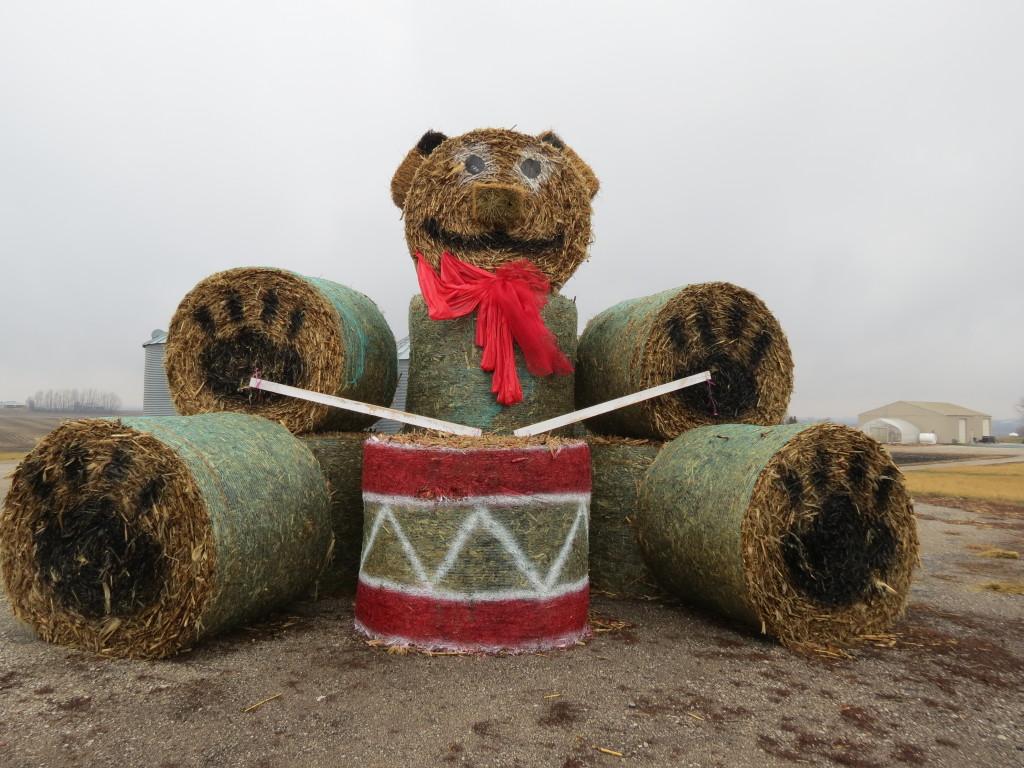 Haybale Teddy Bear
