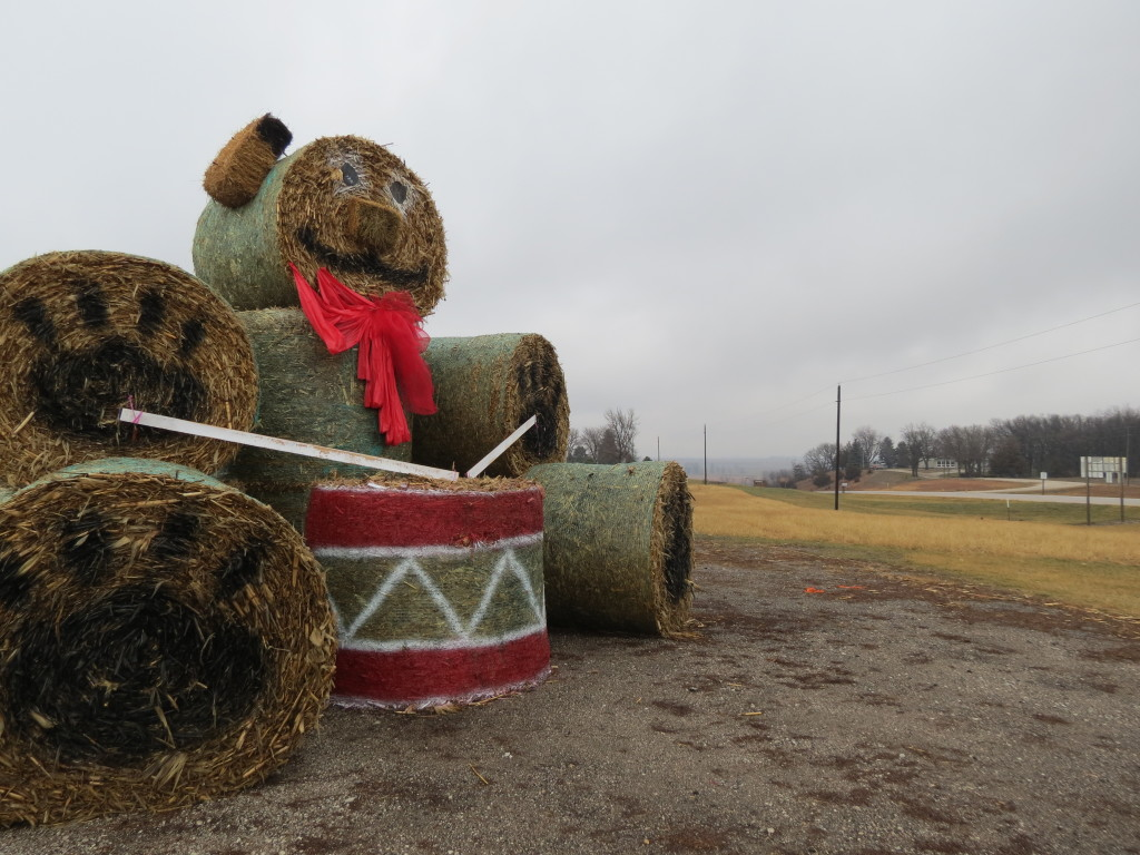 Haybale Teddy Bear