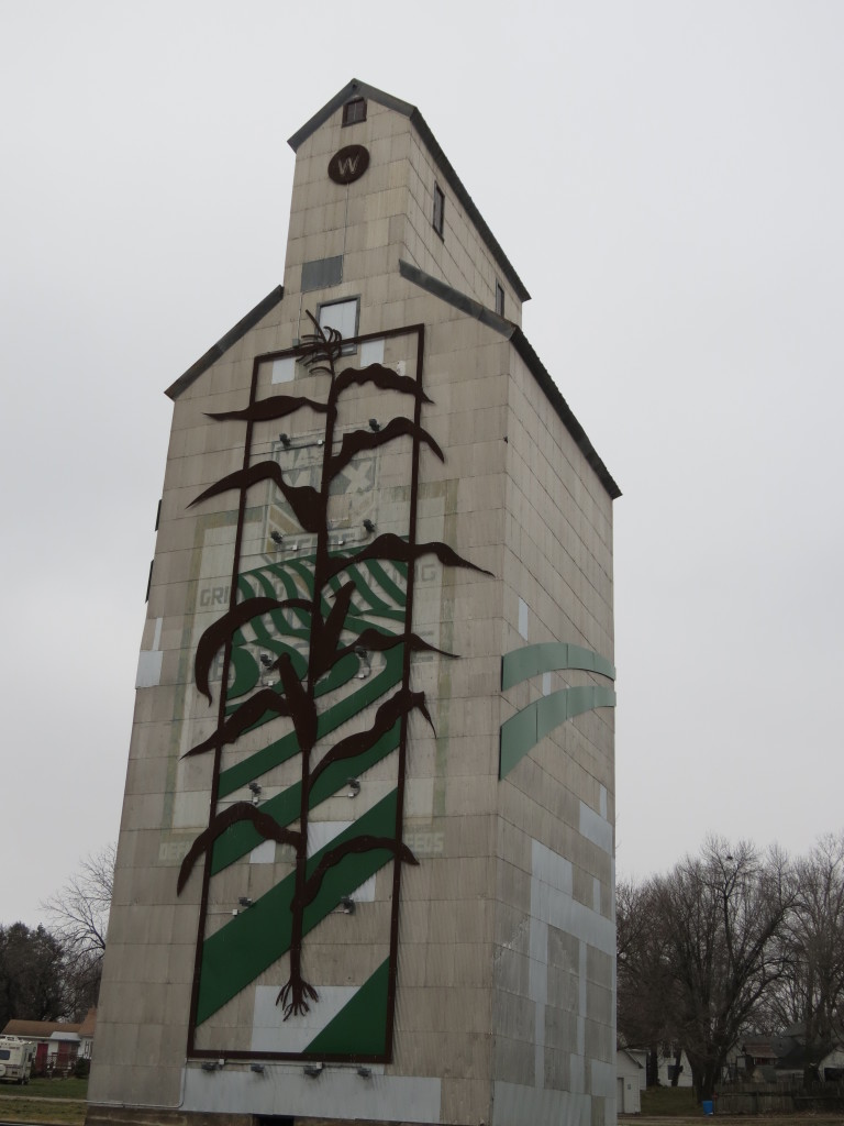 This grain elevator is in Dunlap, Iowa.