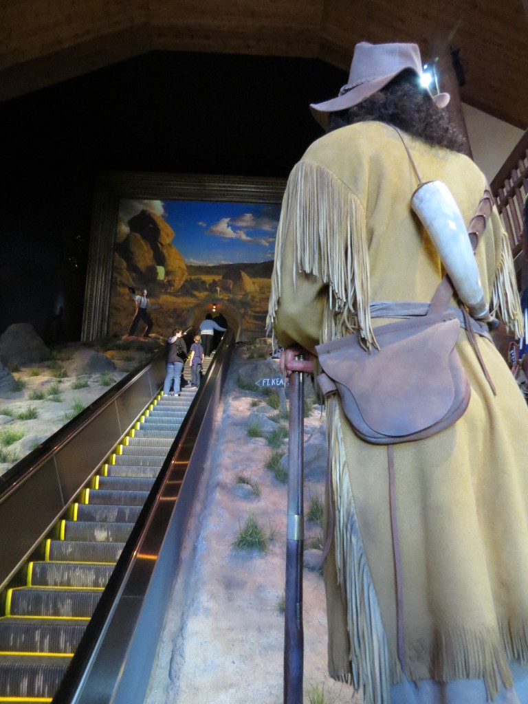 Escalator to the top of the Kearney Archway to enter the museum