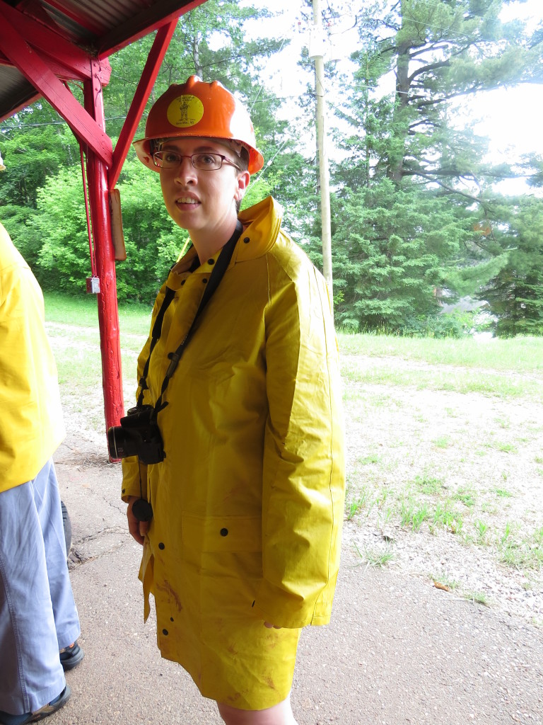 Getting dressed up to hit the iron mine in Upper Michigan