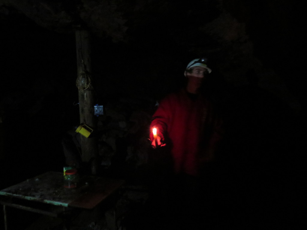 It's dark down in the mine