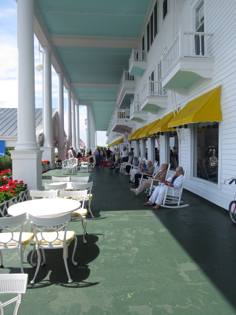 Longest porch at Grand Hotel on Mackinac Island