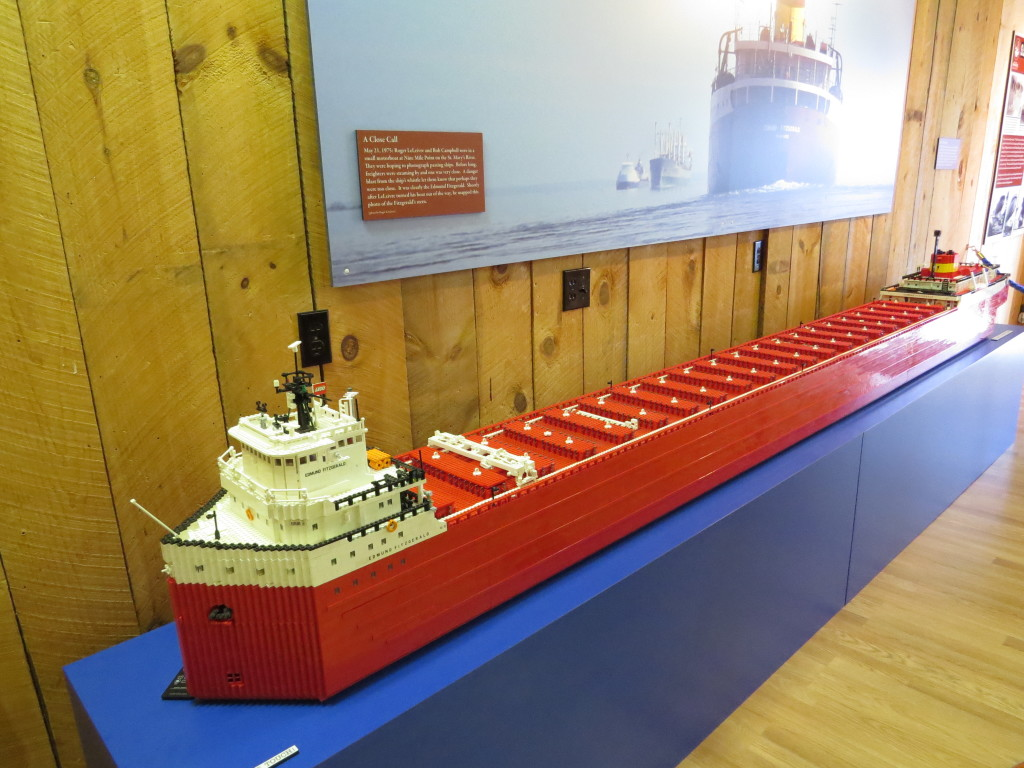 Lego model of Edmund Fitzgerald. About 80,000 legos were used, and required about 50 man-hours.