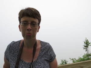 Lisa pouting about the fog