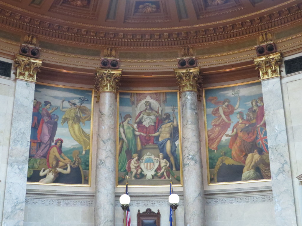Historical paintings at the capital in Madison, Wisconsin