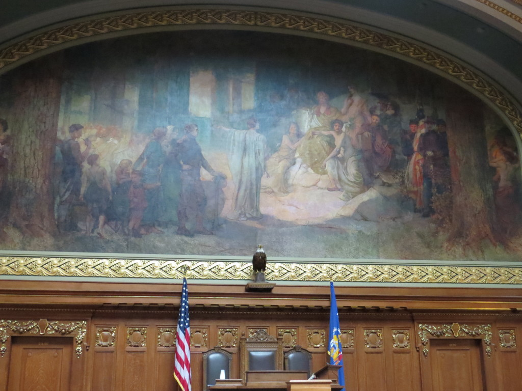 Speaker's Chair in the Assembly at the Capital in Madison, Wisconsin