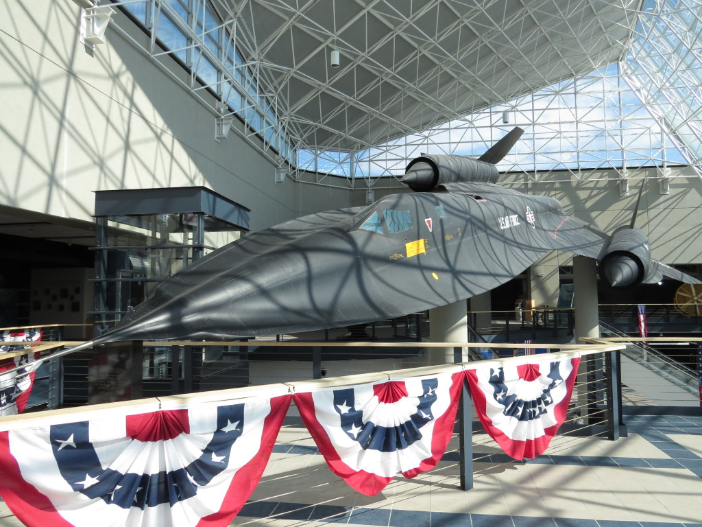 SR71 on display in lobby at SAS museum