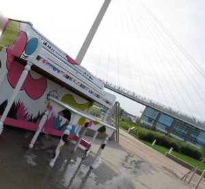 Pianos scattered throughout Omaha Metro for public playing as part of art project
