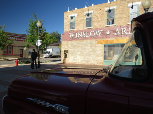 'Standin' on the Corner' in Winslow, Arizona