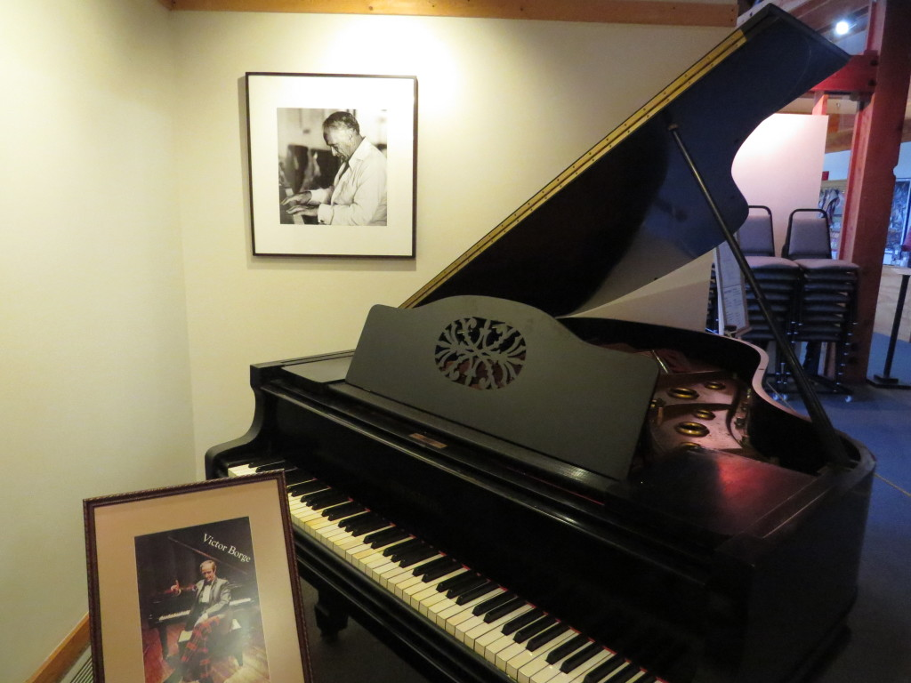 Piano owned by Victor Borge at Danish Immigrant Museum in Elk Horn, IA