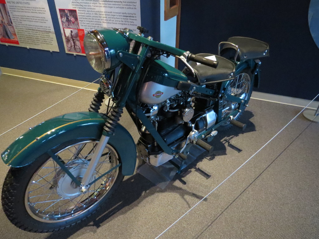Nimbus motorcycle at Danish Immigrant Museum in Elk Horn, IA