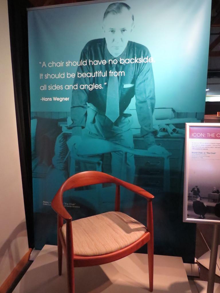 Chair at Danish Immigrant Museum in Elk Horn, IA