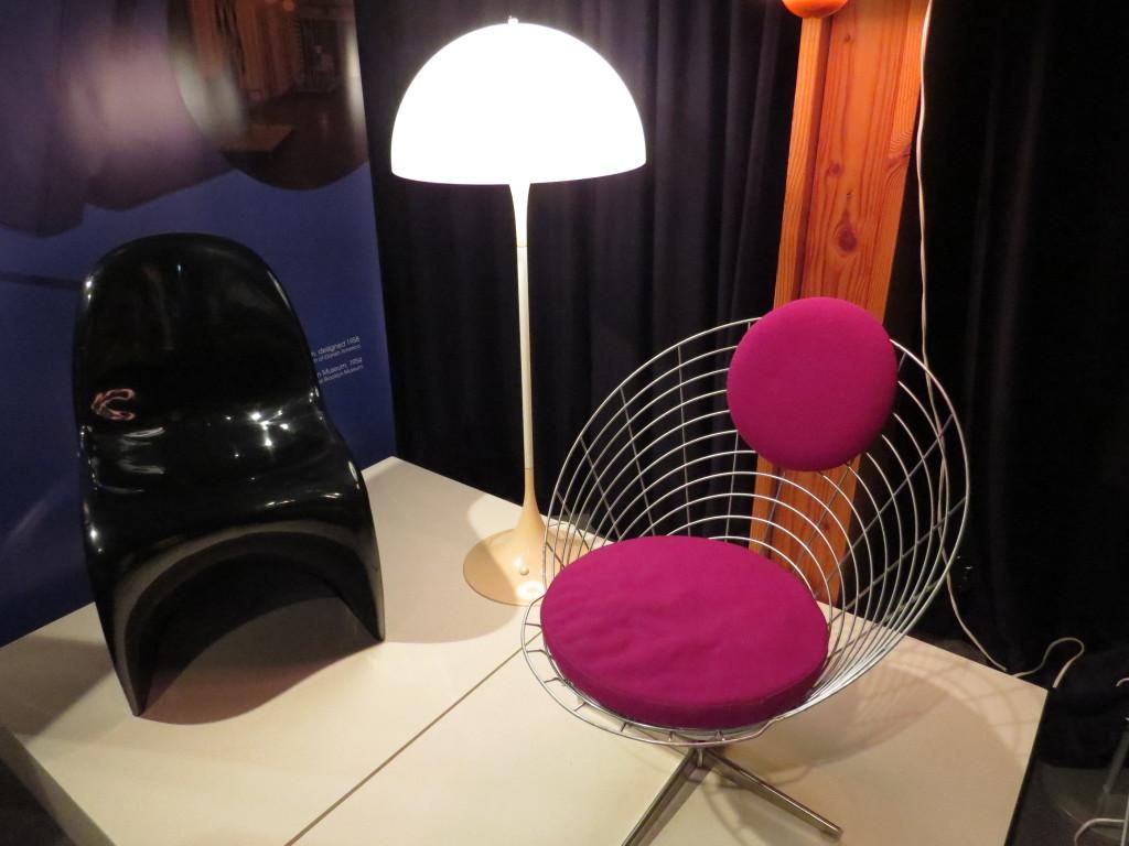 Danish influenced designed furniture at Danish Immigrant Museum in Elk Horn, IA