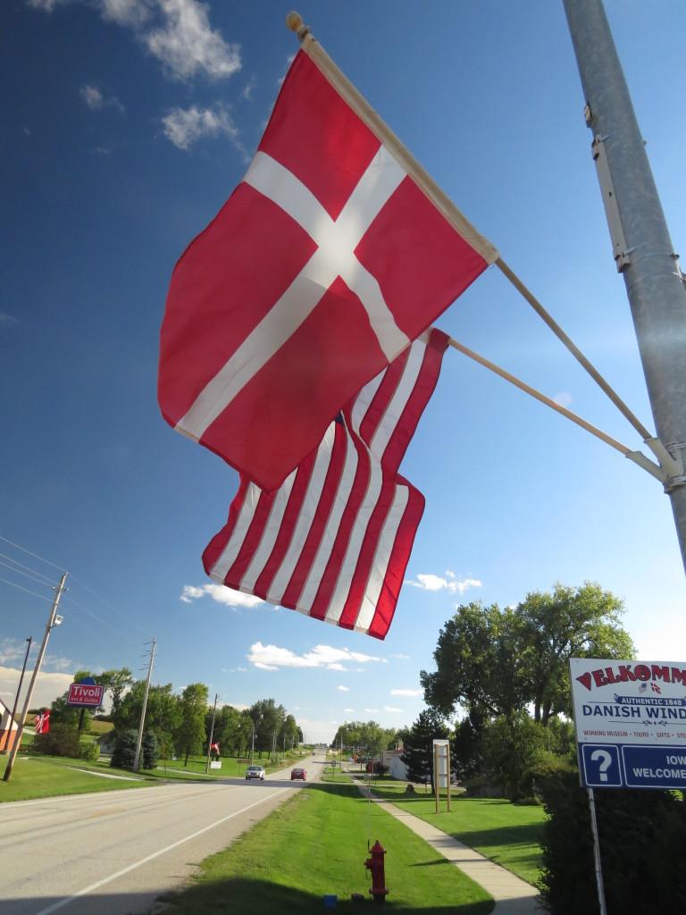 Danish Flag in Elk Horn, IA