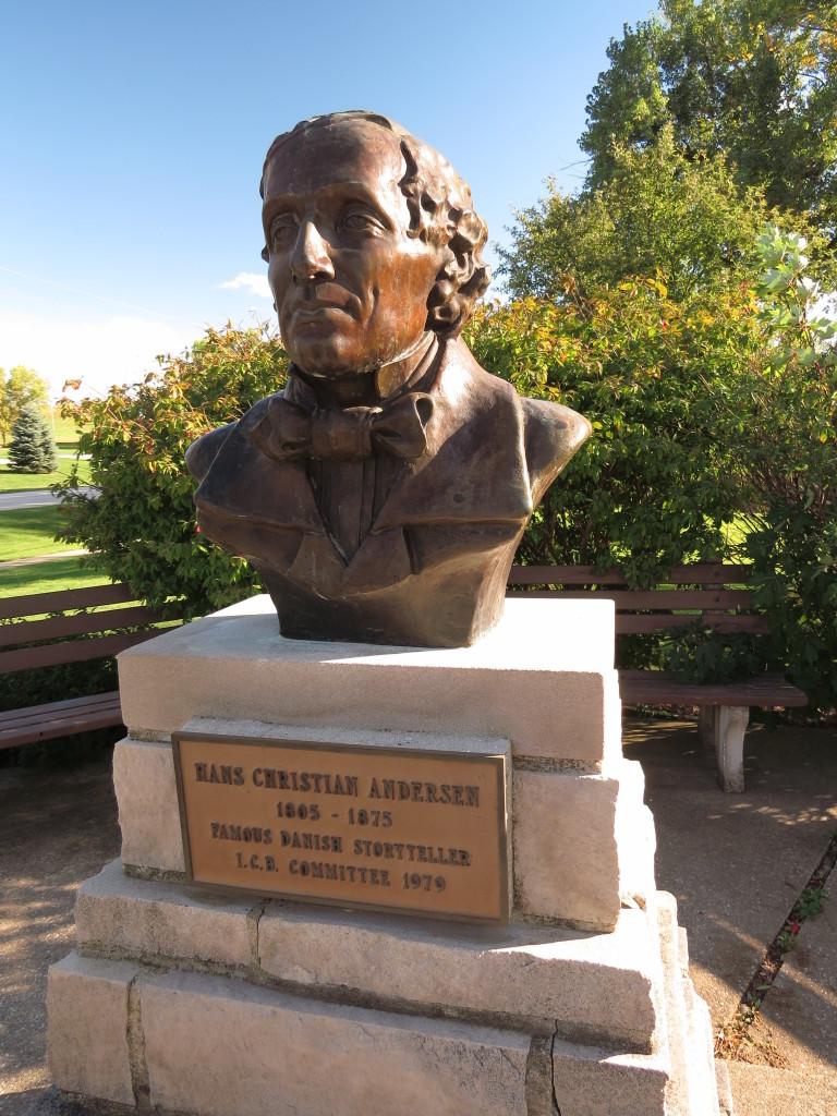 Hans Christian Andersen bust in Elk Horn, IA