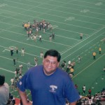 At one of my first Vikings games.