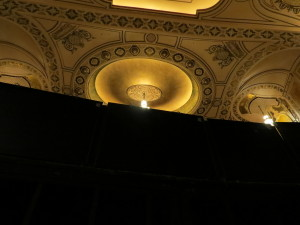 View from the orchestra pit