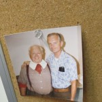 Al Brown (right) with actor Mickey Rooney