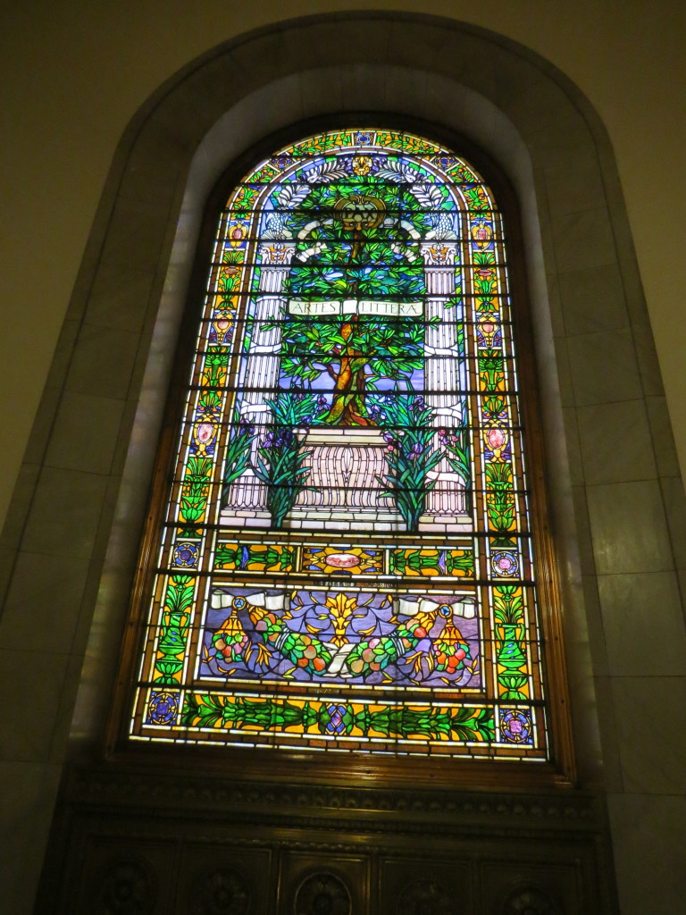 Stained Glass Window At Top Of Grand Staircase St Louis Central Library