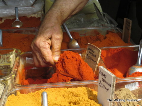 Serving Spices at the KC Farmer's Market, photo courtesy The Walking Tourists