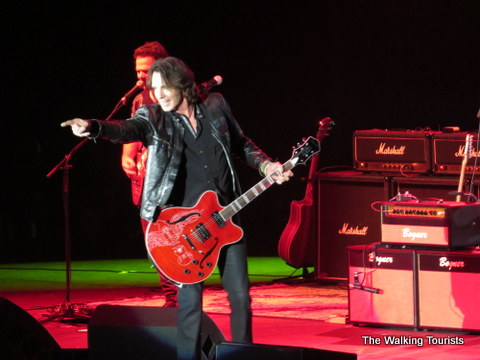 Rick Springfield and red guitar