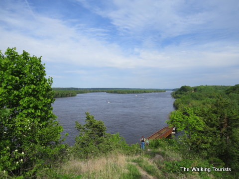 Looking down the Mississippi River