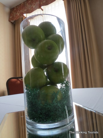 The green apple is a symbol by the hotel for guests to feel at home.