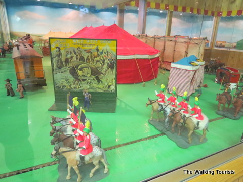 Miniature model of Wild West Show