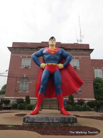 Superman flies into Metropolis, Illinois, museum