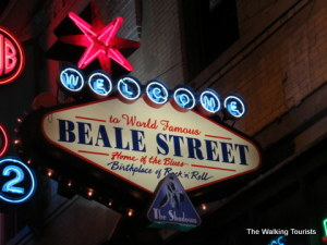 Beale Street lights up Memphis