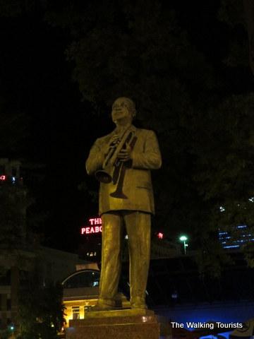 WC Handy statue on Beale Street