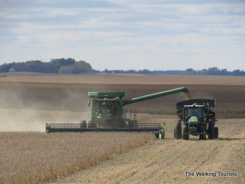 Combining in North Iowa