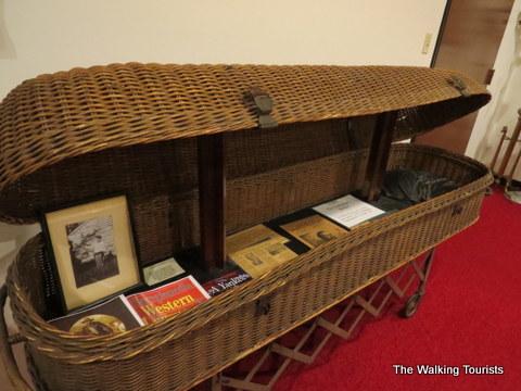 Jesse James wicker casket