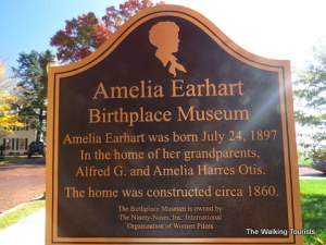Amelia Earhart hails from Atchison, Kansas