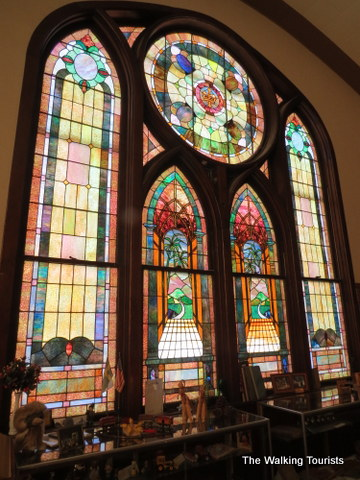 Stained Glass windows at Swedish Heritage Center