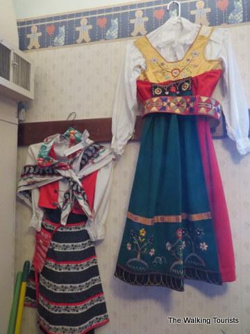 Folk costumes at the Swedish Heritage Center