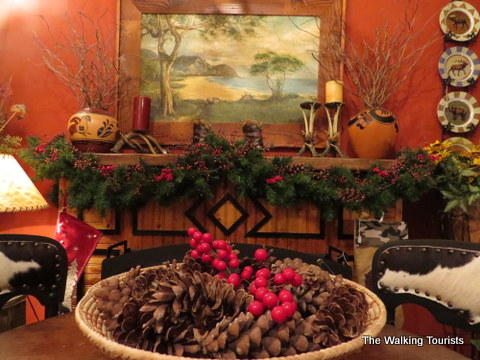 Holiday decor at Hawk's Nest in Weston, MO