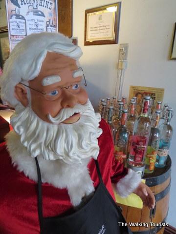 Santa and whiskey