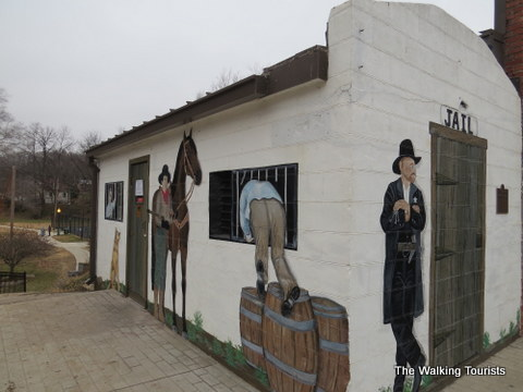 Jail mural in Weston, MO