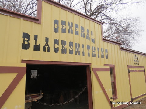 Blacksmith at Cowtown Museum in Wichita, KS