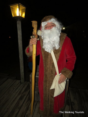 Father Christmas at Cowtown in Wichita, KS