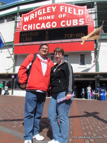 Wrigley Field - home of Chicago Cubs in Chicago