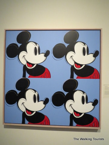 Andy Warhol painting of Mickey Mouse at Sheldon Art Gallery