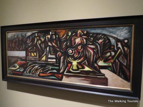 Jackson Pollock piece at Sheldon Art Gallery in Lincoln