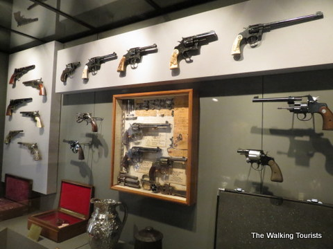 Different types of guns at Autry Museum