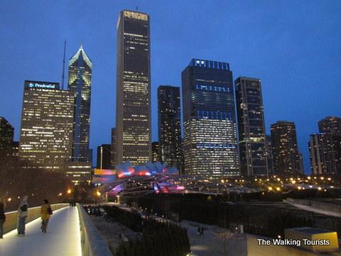 Nichols Bridgeway in Millennium Park in Chicago